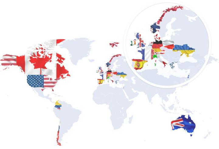 Agiliway clients map